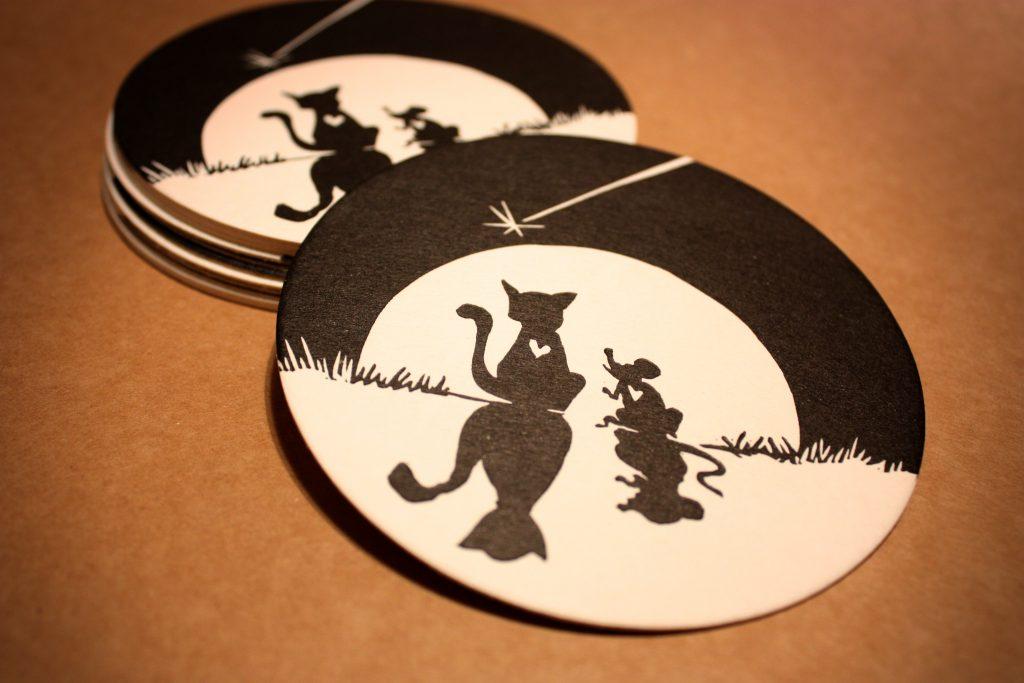 podkładki kot i mysz