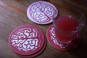 Glasunderlägg – hjärna